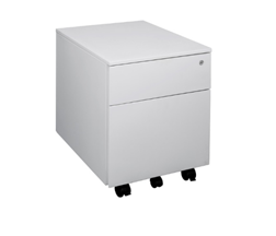 Steel Mobile 2-Drawer Pedestal Image
